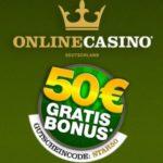 Das Deutsche Online Casino mit dem 50 Euro Gutschein testen