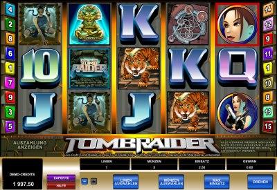 Der Spielautomat Tomb Raider